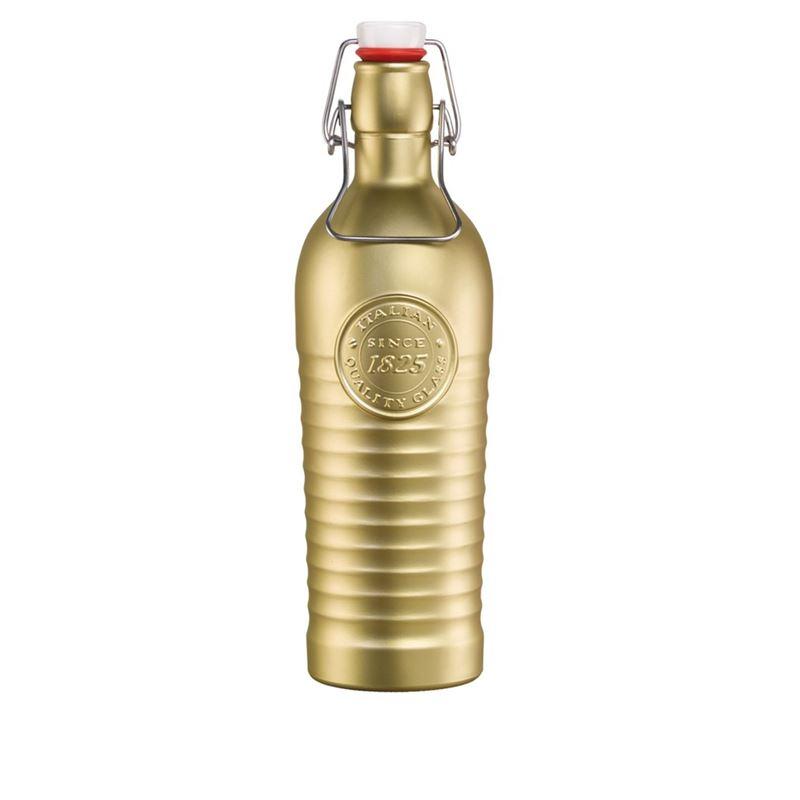 Bormioli Rocco – Officina Flip Top 1.2Ltr Bottle Metalic Gold
