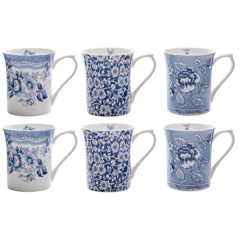 Queens – Blue Story Fine Bone China Mug 200ml Set of 6