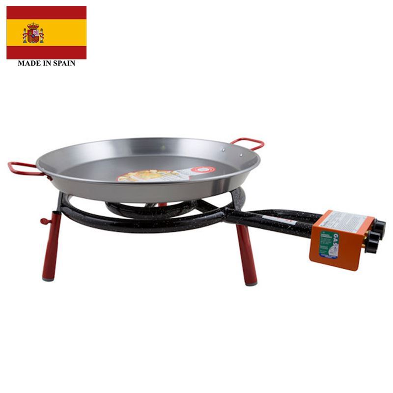 Garcima – Valencia Paella Table Top Gas Burner Set 46cm with Red Handles (Made in Spain)