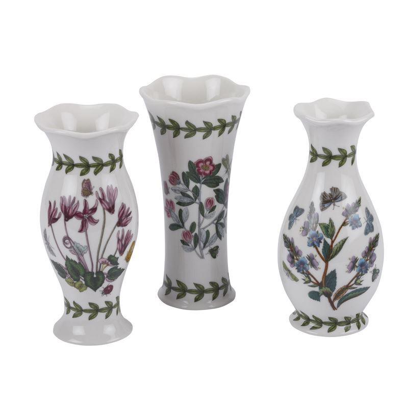 Portmeirion Botanic Garden – Mini Vases 13cm Set of 3