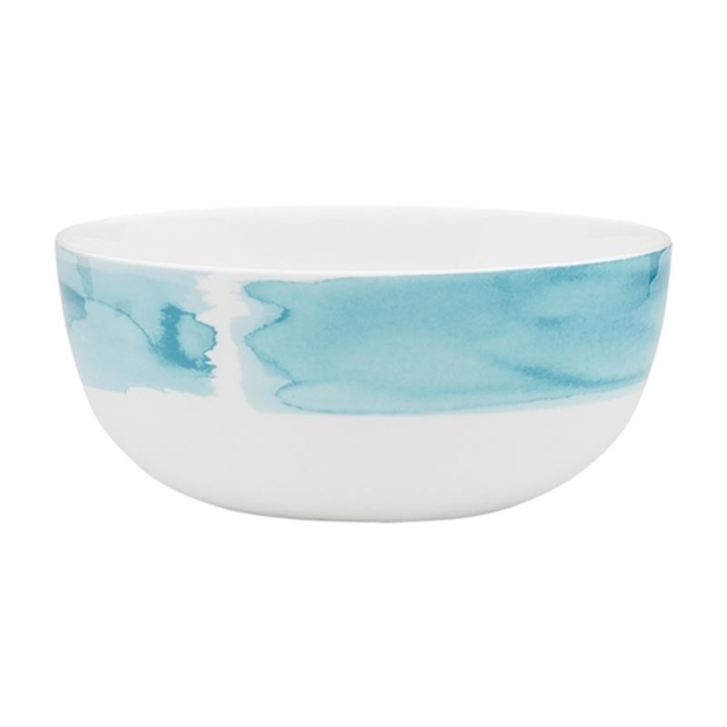 Ecology – Watercolour Noodle Bowl Aqua 16cm – Fine Bone China