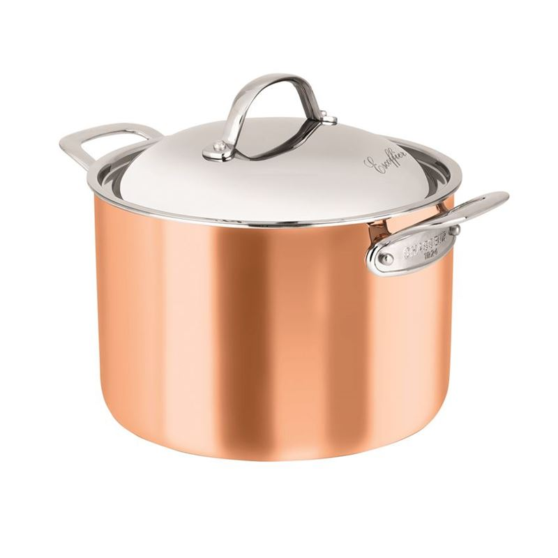 Chasseur – Escoffier Copper and Stainless Steel Tri-Ply 24cm 7Ltr Covered Stock Pot