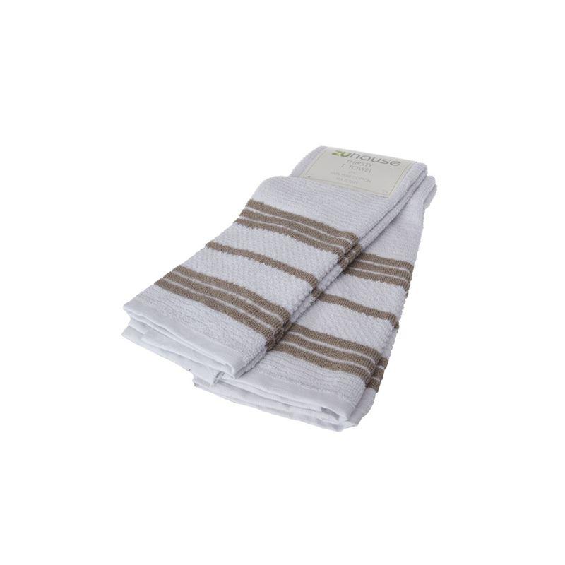 Zuhause – Johnson Stripe Thirsty Tea Towel 40x66cm Coffee Set of 2