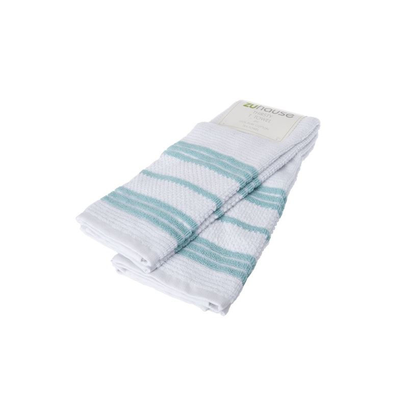 Zuhause – Johnson Stripe Thirsty Tea Towel 40x66cm Aqua Set of 2