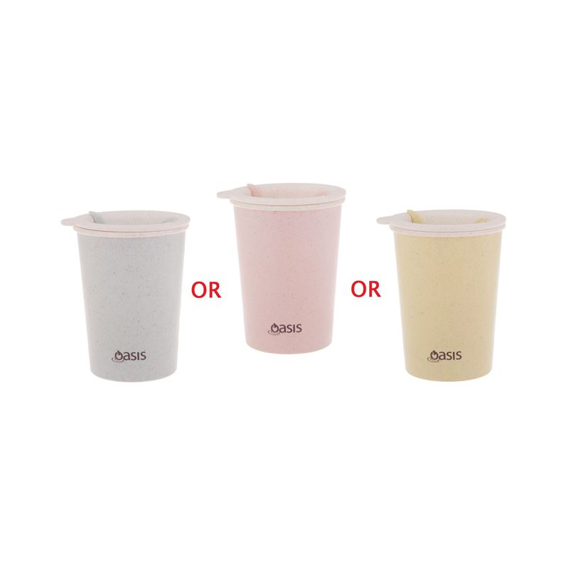 Oasis – Double Wall Eco Reusable Coffee Cup 300ml Asst.