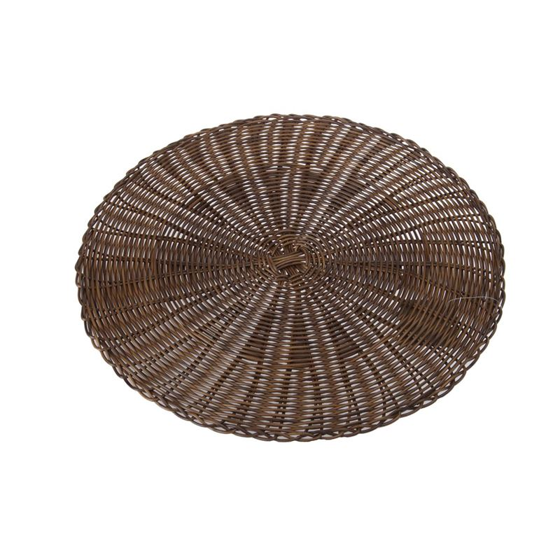 Zuhause – Marko PVC Woven Placemat 38cm Round Chocolate