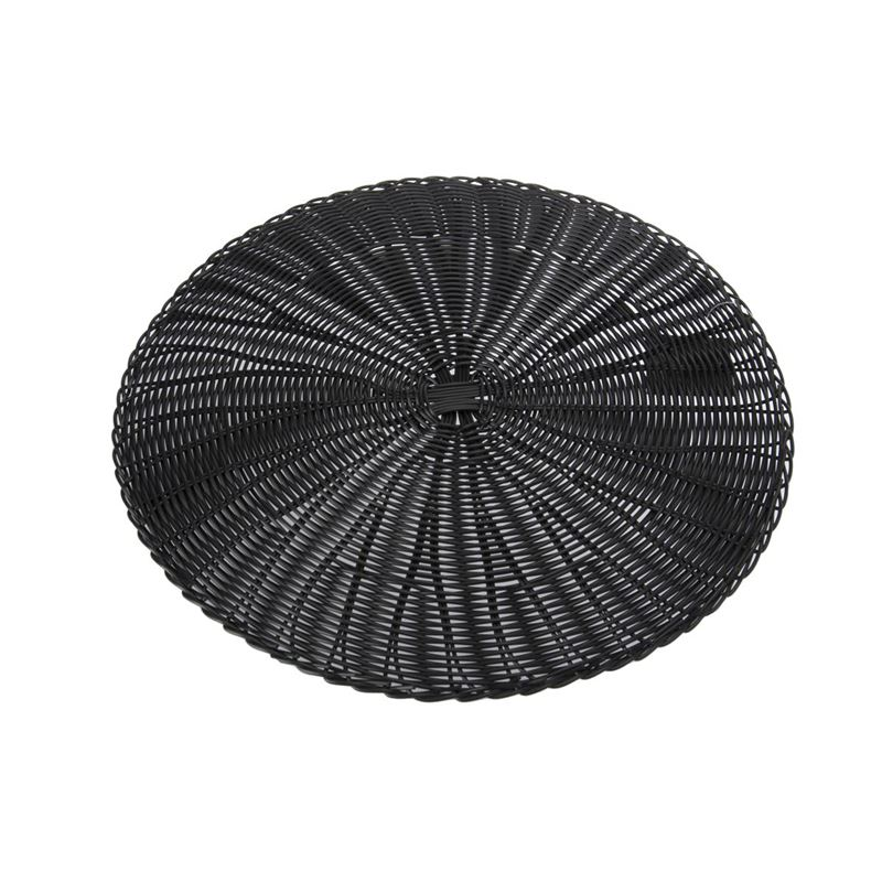 Zuhause – Marko PVC Woven Placemat 38cm Round Charcoal