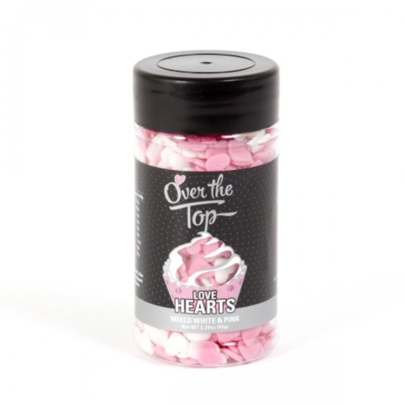 Over the Top – Love Hearts White & Pink 55g