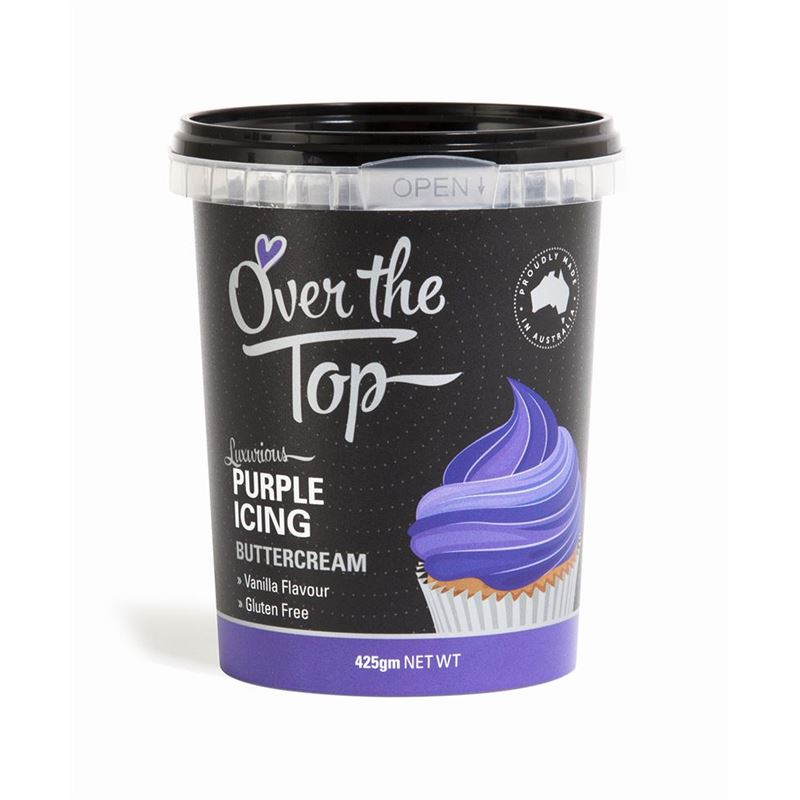 Over the Top – Ready Made Buttercream Purple 425g