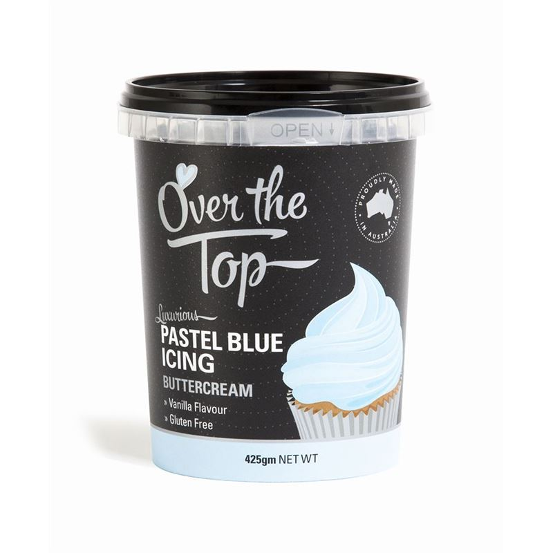 Over the Top – Ready Made Buttercream Pastel Blue 425g