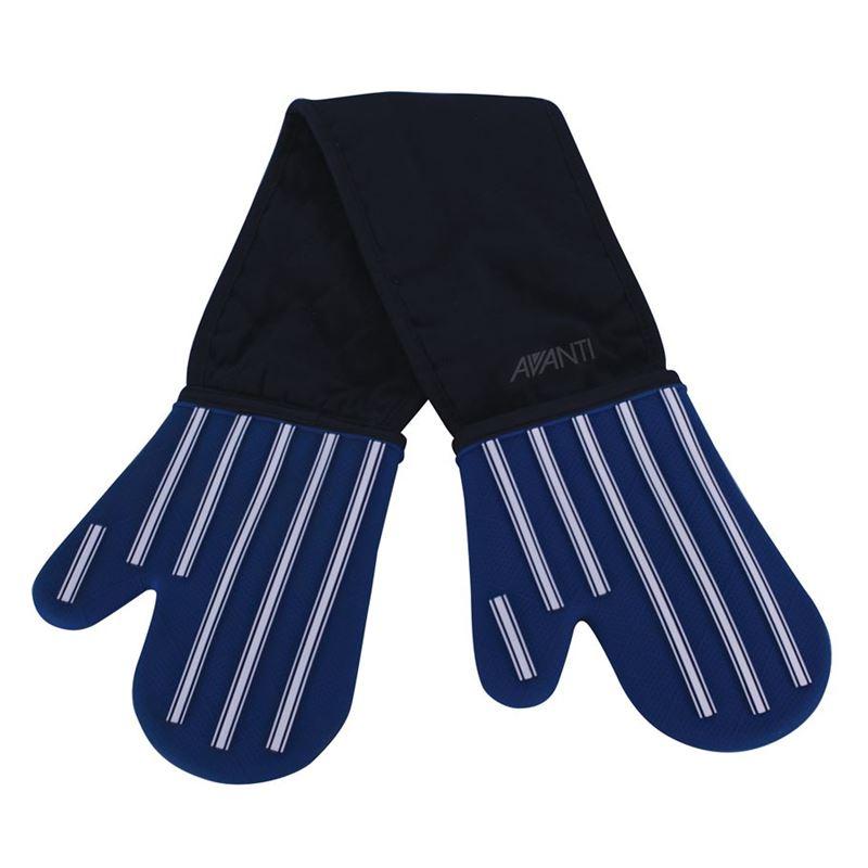 Avanti – Silicone Double Oven Glove Butcher Stripe Blue