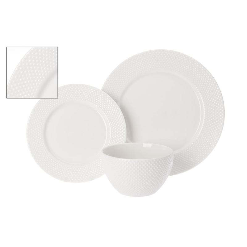 Benzer – Droplet 12pc Premium Porcelain Dinner Set