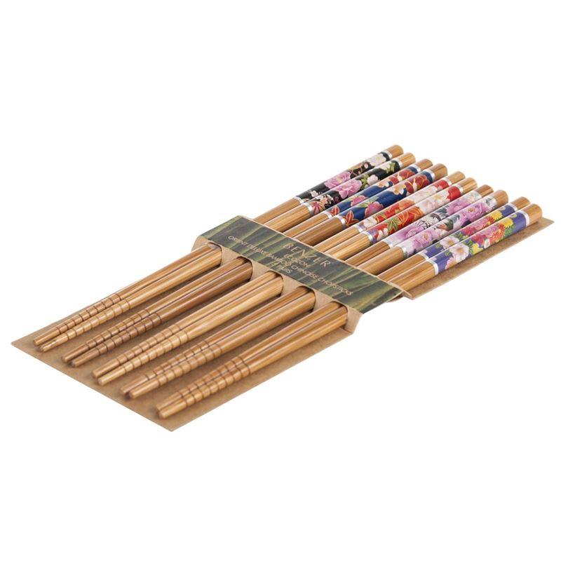 Benzer – Ecozon Bamboo Orient Collection Bamboo Chopsticks 5 Pairs Design 55