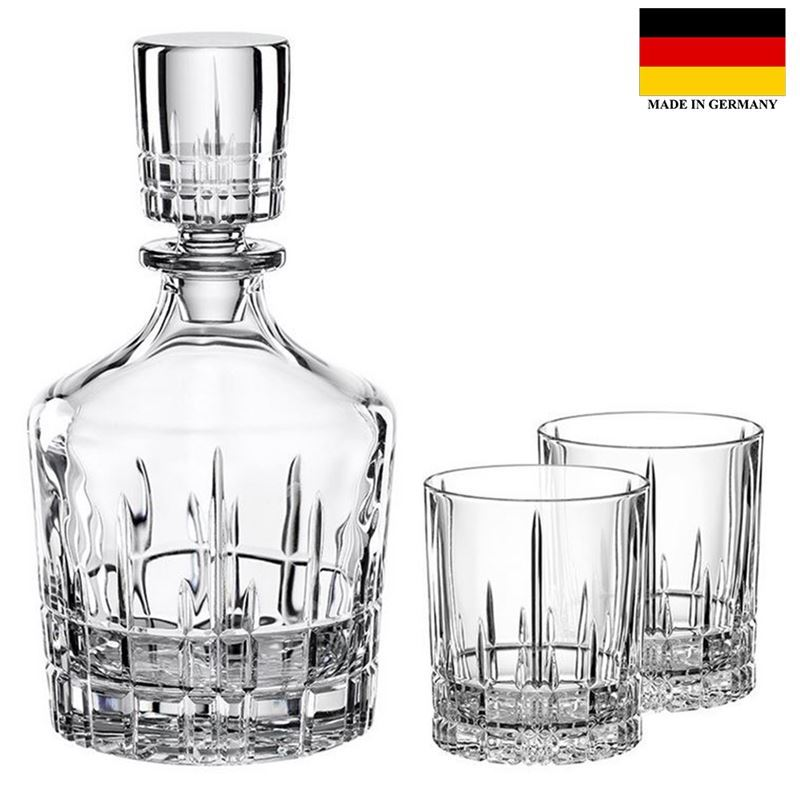 Spiegelau – Perfect Serve Collection by Stephan Hinz Whisky Tumblers and Carafe 3pc Set (Made in Germany)