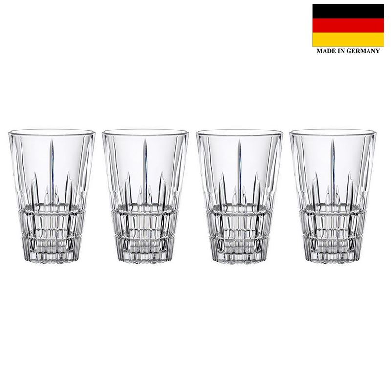 Spiegelau – Perfect Serve Collection by Stephan Hinz Latte Macchiato Glasses 300ml Set of 4 (Made in Germany)