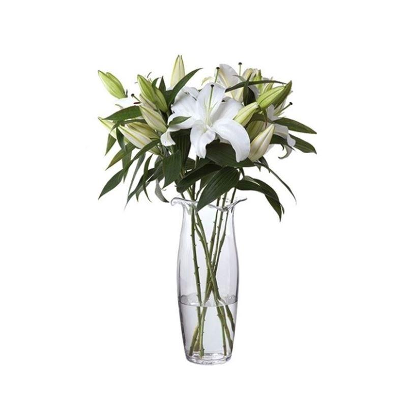 Dartington – Florabundance Crystal Lily Vase 35cm (Made in the U.K.)