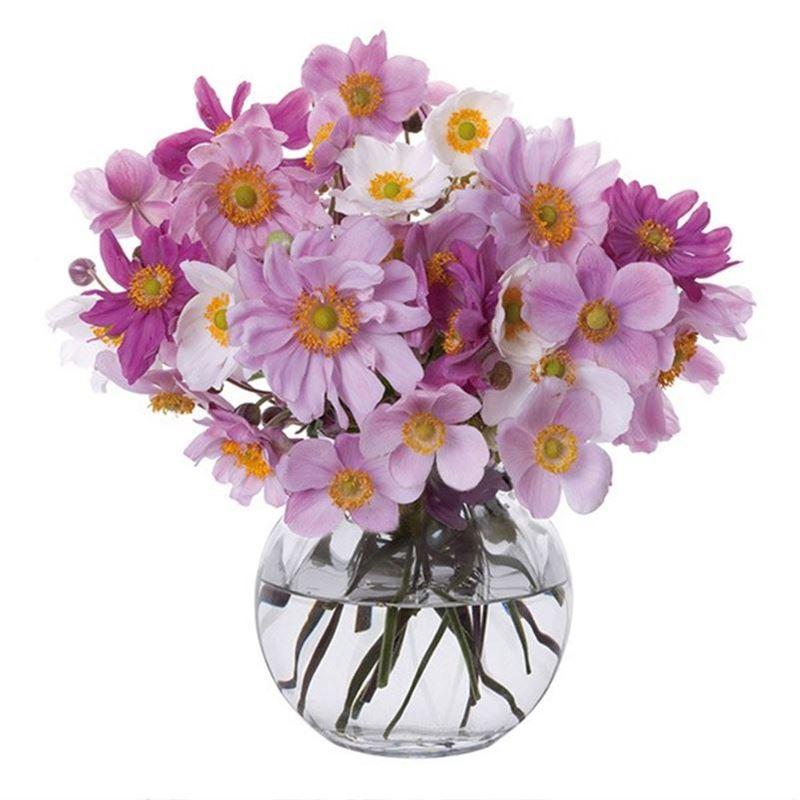 Dartington – Florabundance Crystal Anemone Vase 12.5cm (Made in the U.K.)
