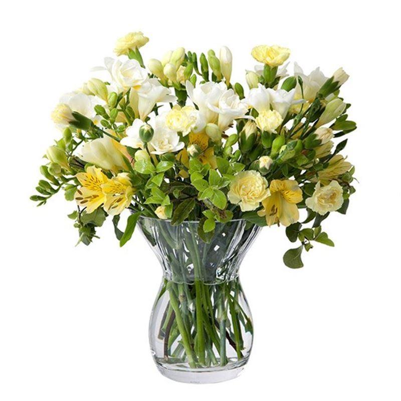 Dartington – Florabundance Crystal Posy Vase 18cm (Made in the U.K.)