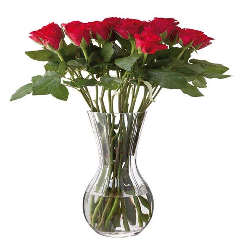 Dartington – Florabundance Crystal Rose Vase 31cm (Made in the U.K.)