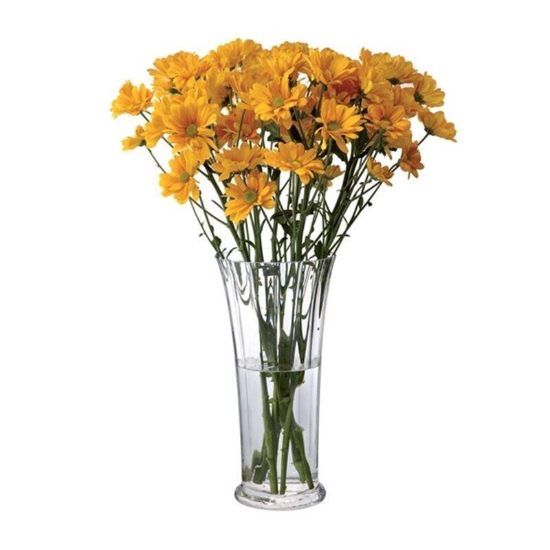 Dartington – Florabundance Crystal Chrysanthemum Vase 29cm (Made in the U.K.)