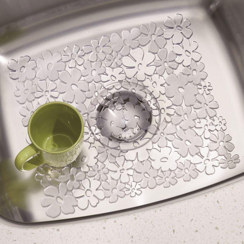 InterDesign – Blumz Sink Mat Small Clear 30.5x25cm