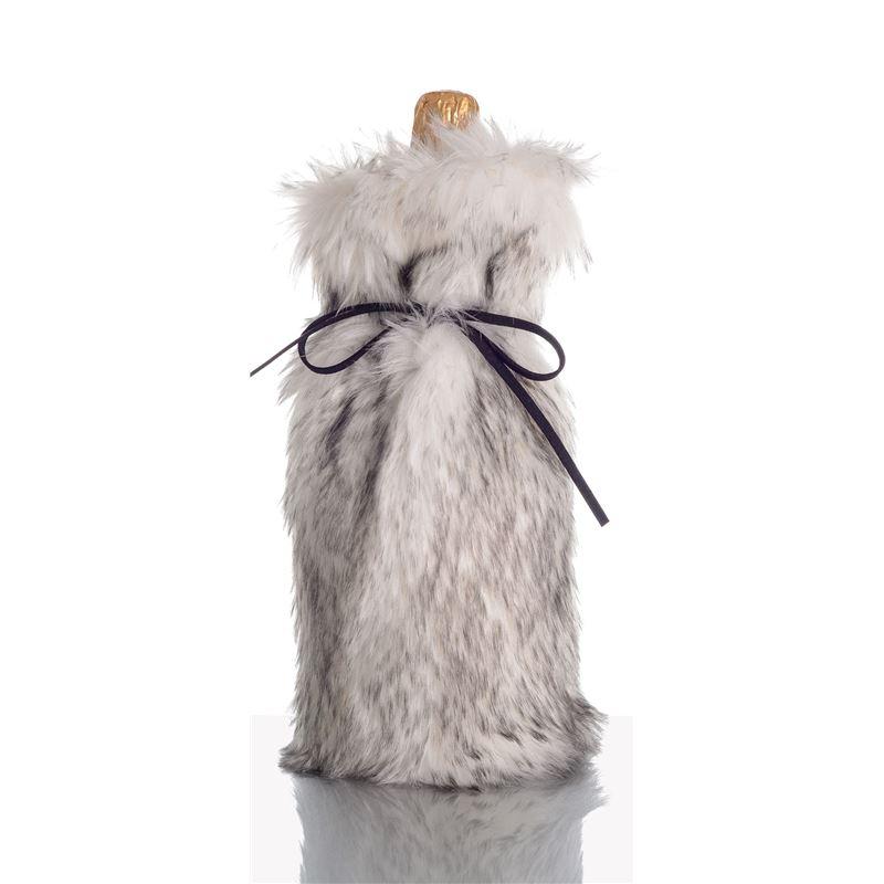 Ogilvies Designs – Absolutely Fab Fur Wine Bag Mink