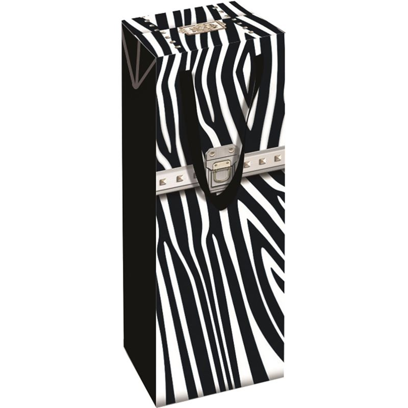 Ogilvies Designs – Gift Bag Box Bottle Bag Zebra