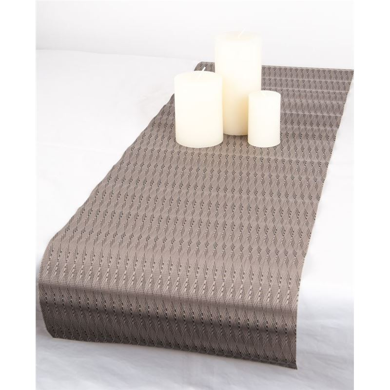 Ogilvies Designs – Woven Living Etch Table Runner 30x120cm Brown Owl