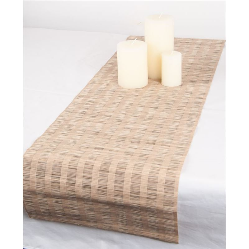Ogilvies Designs – Woven Living Matsu Tablerunner 30x120cm Light