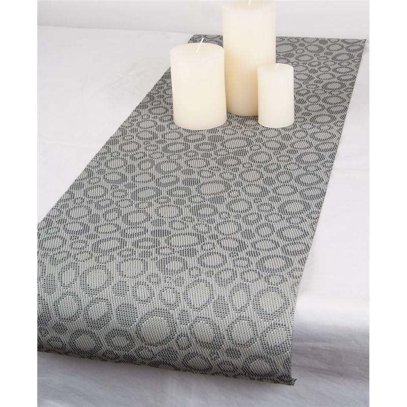 Ogilvies Designs – Woven Living Pebble Tablerunner 30x120cm Grey
