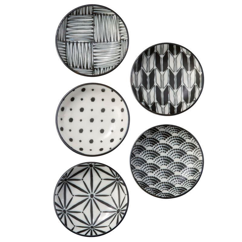 Komon by Noritake – Japanese Porcelain Dipping Dish 9cm Set of 5 (Made in Japan)