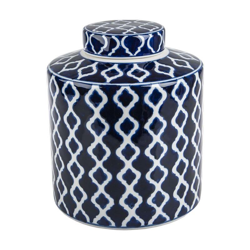 Pimbleton – Chinoiserie Avondale Round Temple Jar 23cm