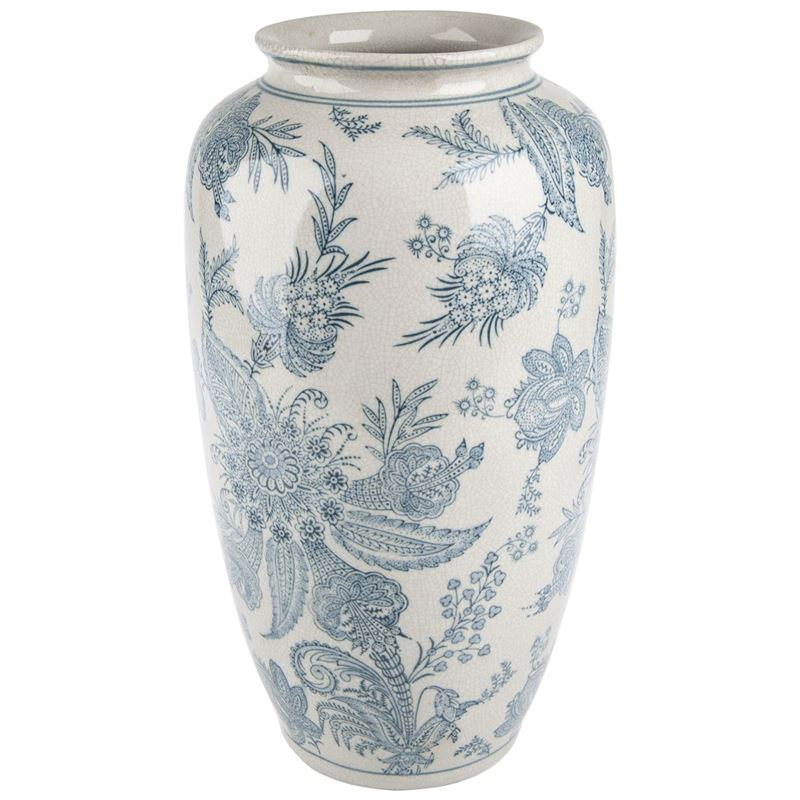 Pimbleton – Chinoiserie Camille Tall Round Vase 37cm