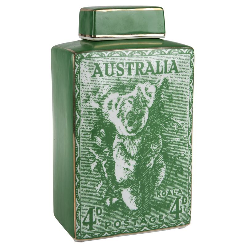 Pimbleton – Australian Stamps Collection Jar 28cm Green