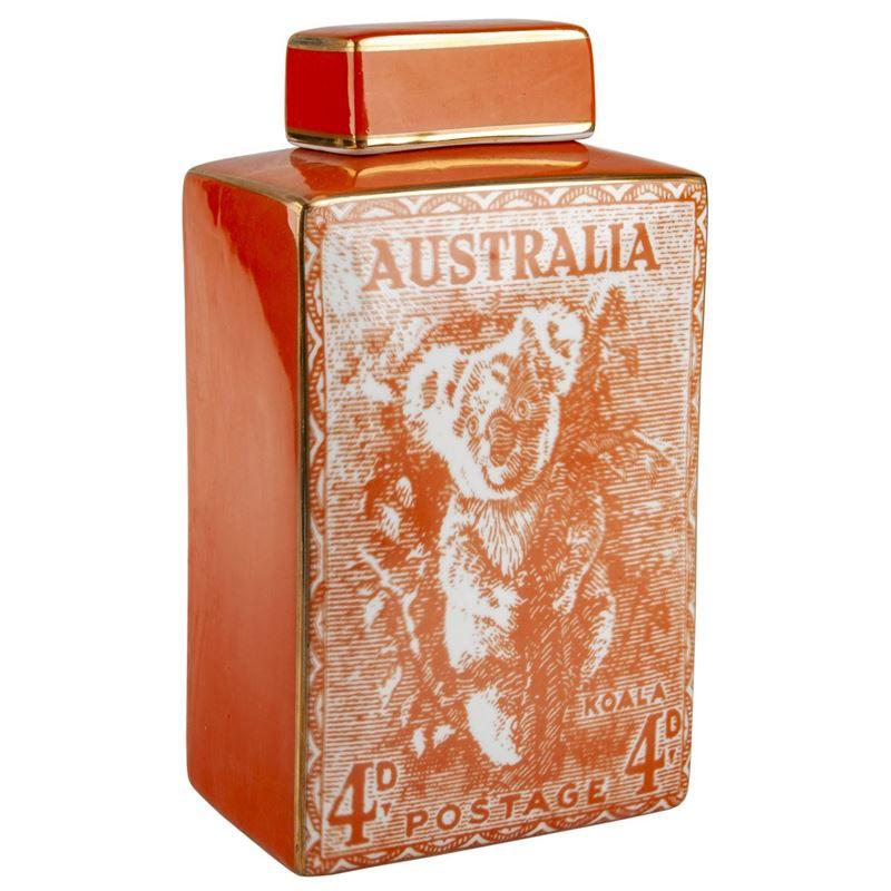Pimbleton – Australian Stamps Collection Jar 28cm Orange