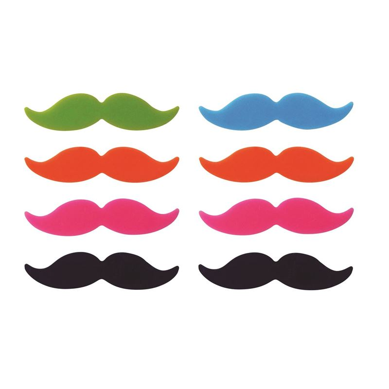 Avanti – Moustache Glass Markers set of 8