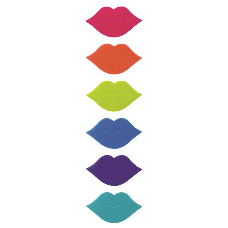 Avanti – Hot Lips Glass Markers set of 6