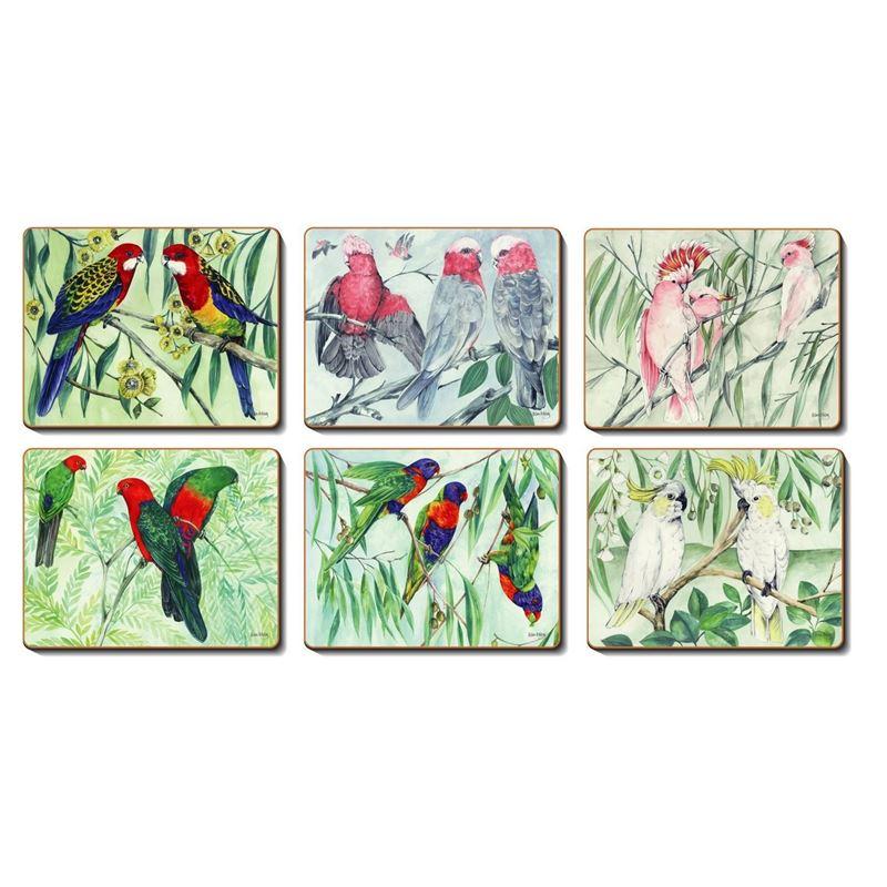 Cinnamon – Australian Parrots Placemat 34×26.5cm Set of 6