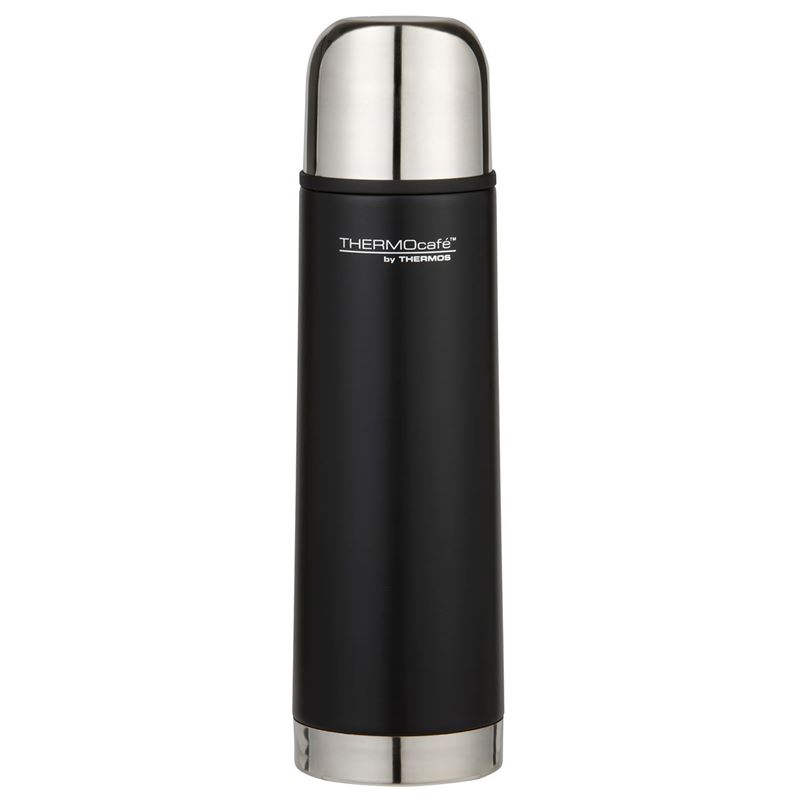 THERMOcafé™ by Thermos – Stainless Steel Vacuum Insulated Slimline Flask 500ml Black