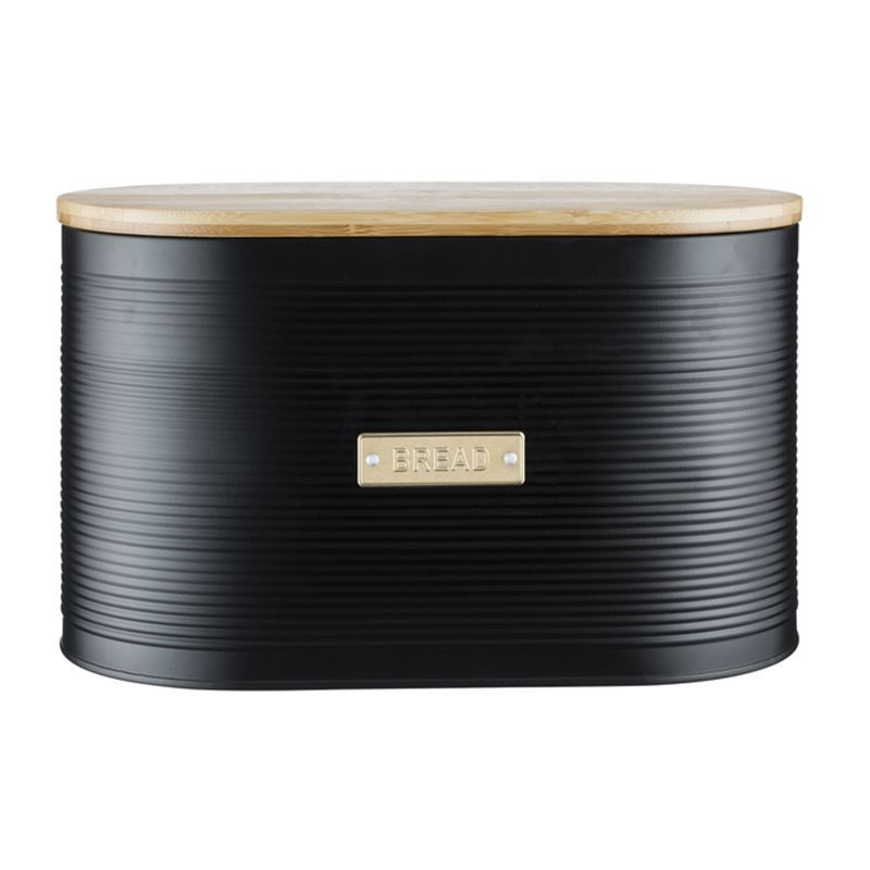 Typhoon – Living Otto Black Bread Bin 34×9.5×20.5cm
