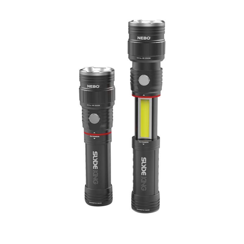 Nebo – Slyde King Rechargable Flashlight/Work Light Black