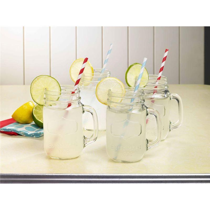 Anna Gare – Glass Retro Tumbler 450ml Set of 4