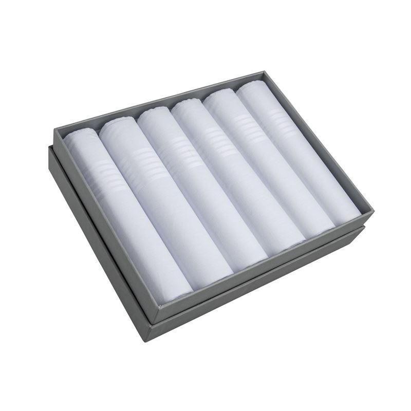 Pimbleton – English Home Saville Mens Fine Cotton Handkerchiefs Gift Boxed Set of 6