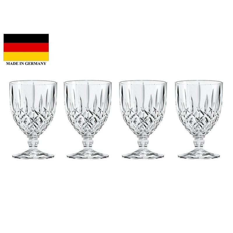 Nachtmann Crystal – Noblesse Goblet Tall 350ml Set of 4 (Made in Germany)