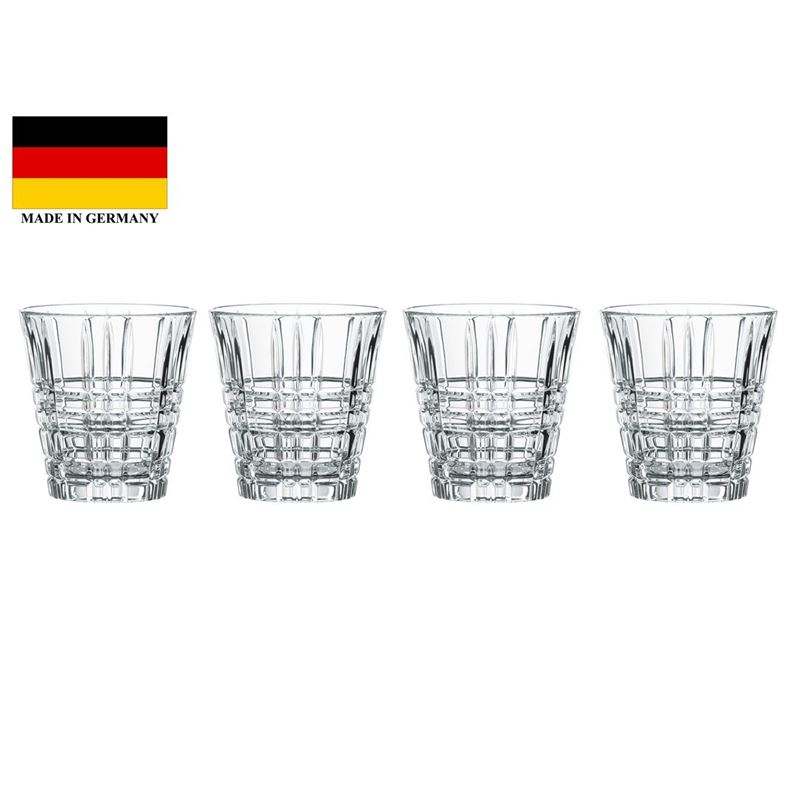 Nachtmann Crystal – Square Tumbler 260ml Set of 4 (Made in Germany)