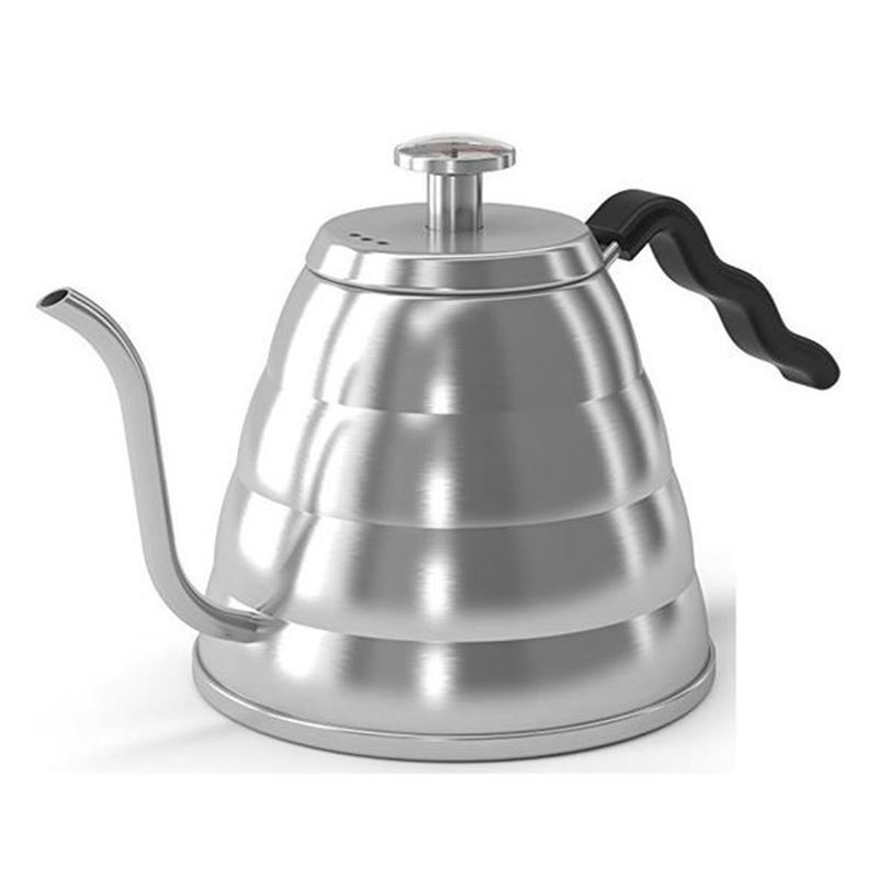 Coffee Culture – Stainless Steel Pour Over Kettle 1.2Ltr with In-Built Thermometer