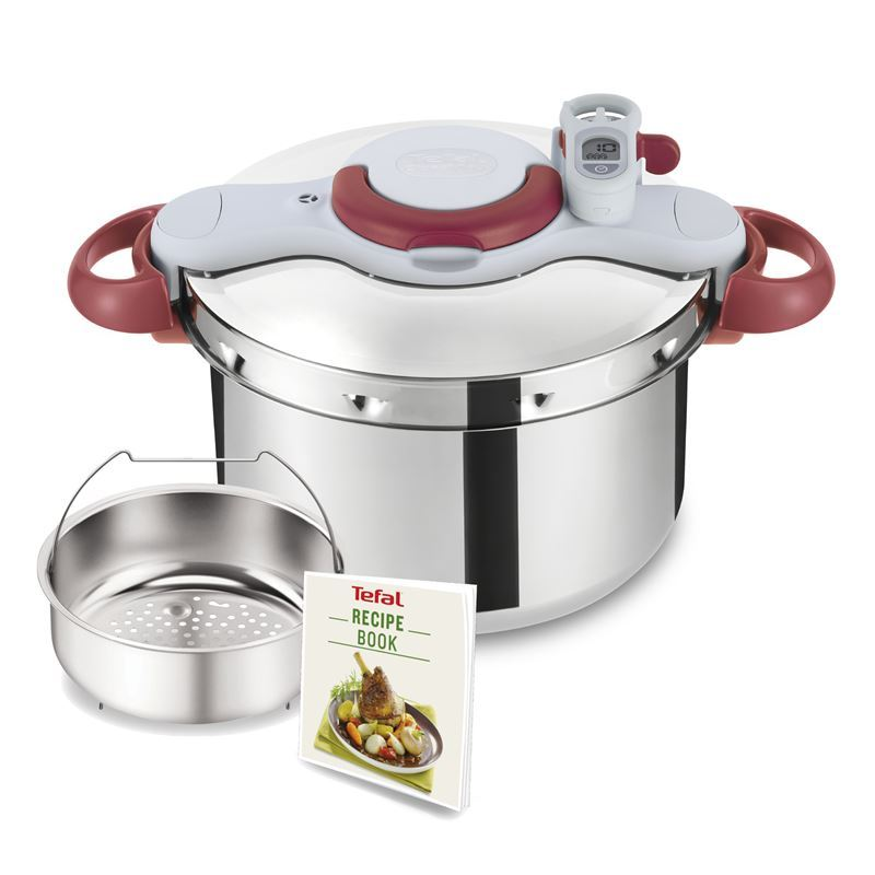 Tefal – Clipso Minut Perfect Stainless Steel Pressure Cooker 9Ltr (Made in France)