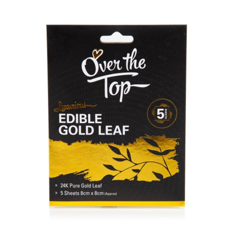Over the Top – Gold Leaf 24K Set of 5 8x8cm Sheets