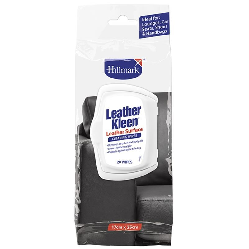 Hillmark – Leather Kleen Wipes 20 Pack