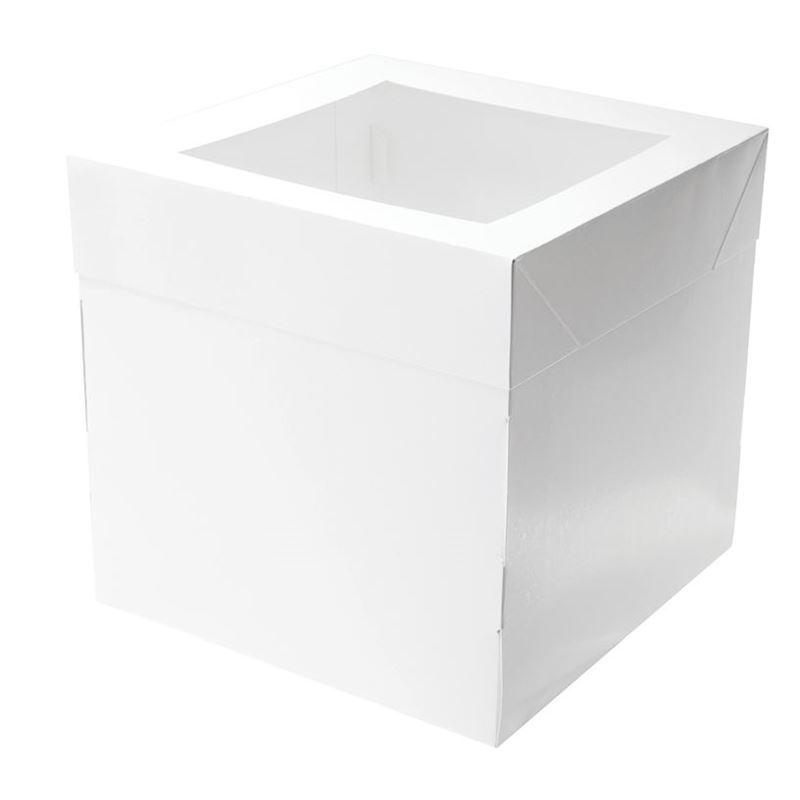 Mondo – White Cake Box Square Tall 25x25x25cm
